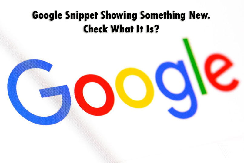 Google Snippet Showing Something New. Check What It Is? 1